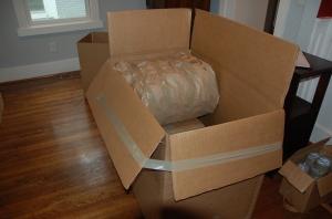 "A ""tri-fold"" box."