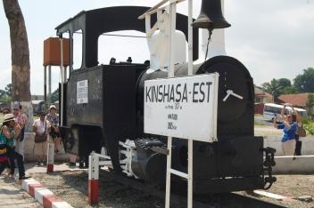 The first train in Congo...it no longer runs.