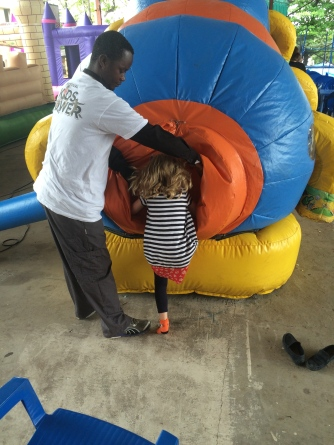 This was a giant caterpiller...there was something disturbing about where you entered the bouncy house...