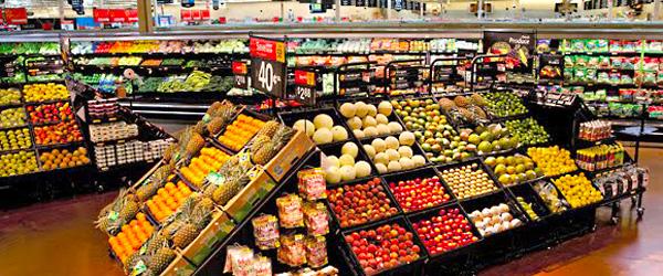 A U.S. produce section