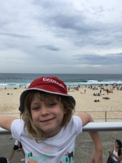 C on Bondi beach - wearing the same hat I wore on Bondi beach during the Olympics!